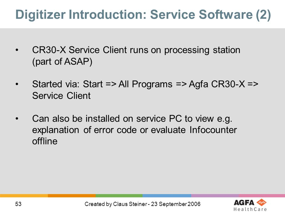 Digitizer Introduction: Service Software (2)