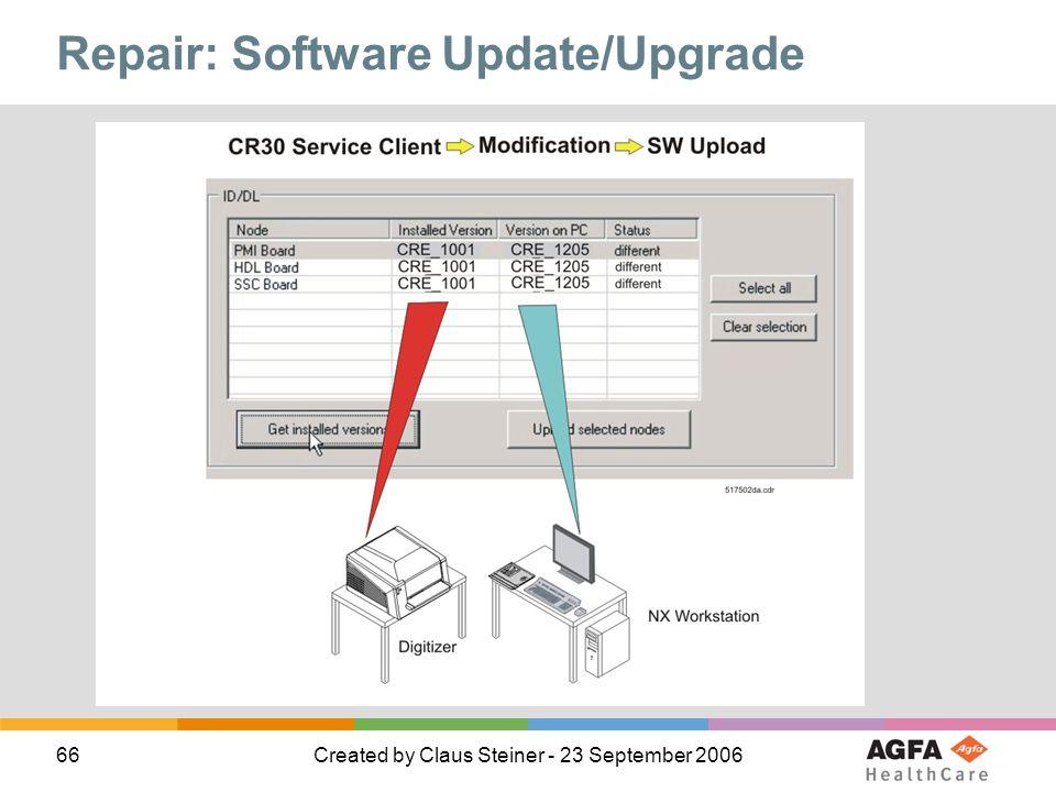 Repair: Software Update/Upgrade