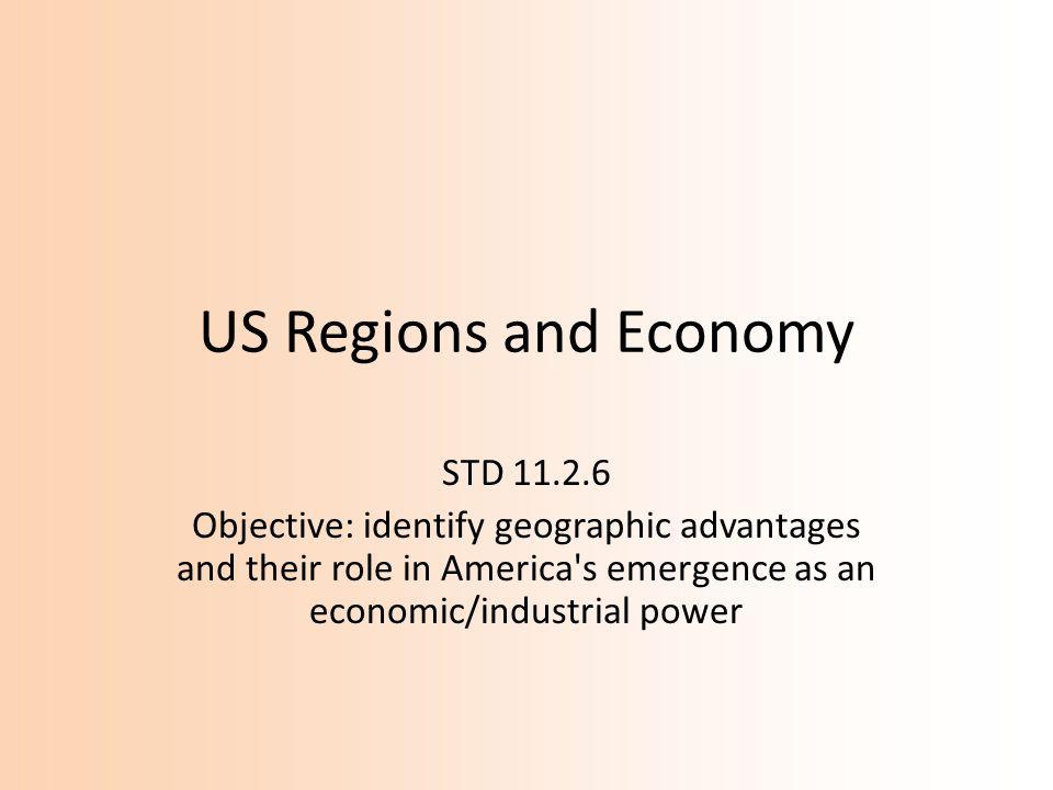 US Regions and Economy STD 11.2.6