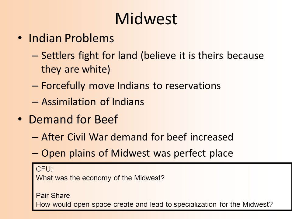 Midwest Indian Problems Demand for Beef
