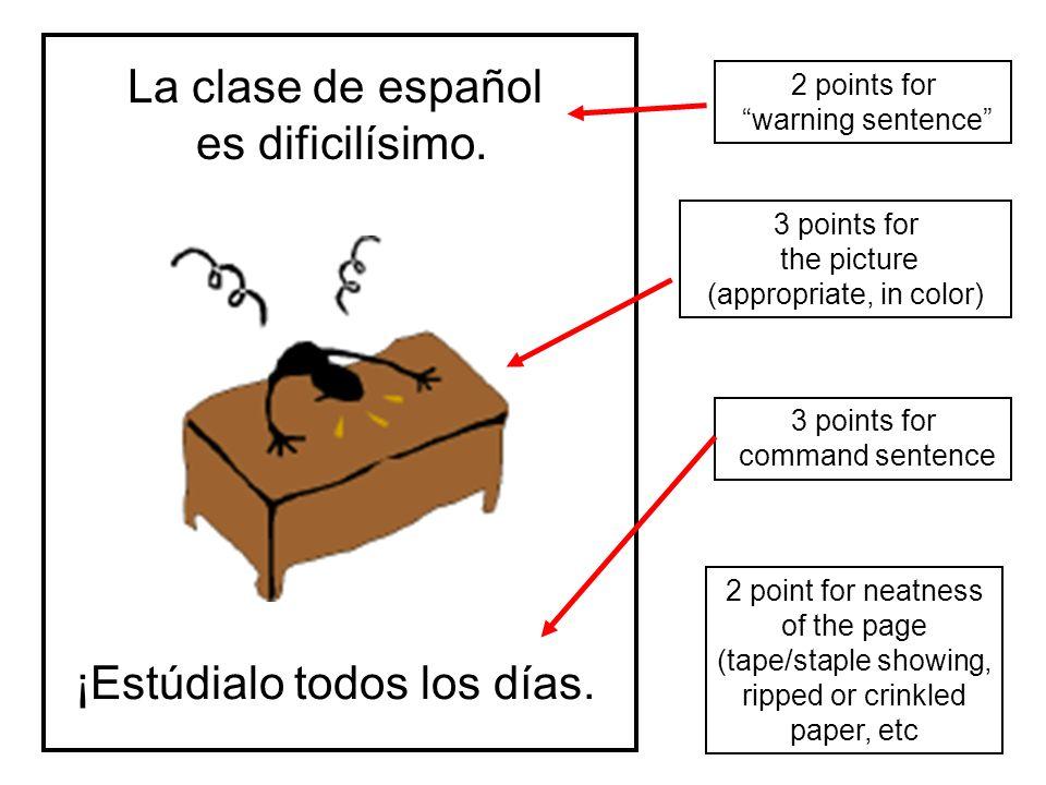 La clase de español es dificilísimo.