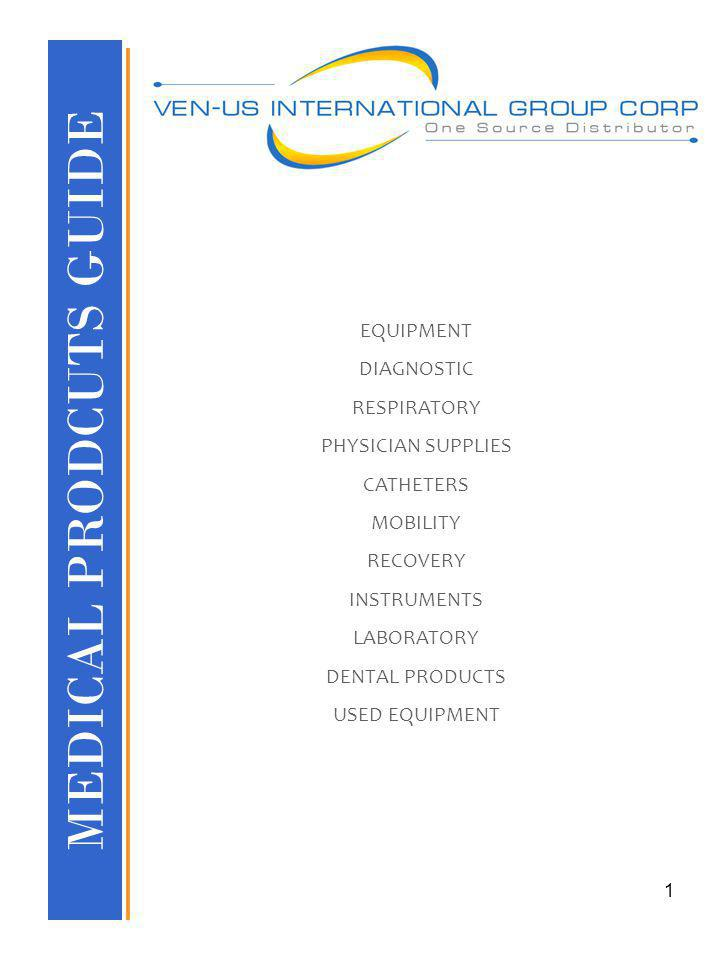 MEDICAL PRODCUTS GUIDE