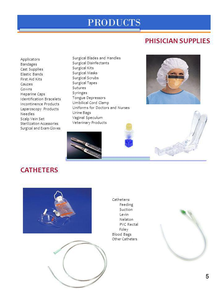 PRODUCTS PHISICIAN SUPPLIES CATHETERS 5 Surgical Blades and Handles