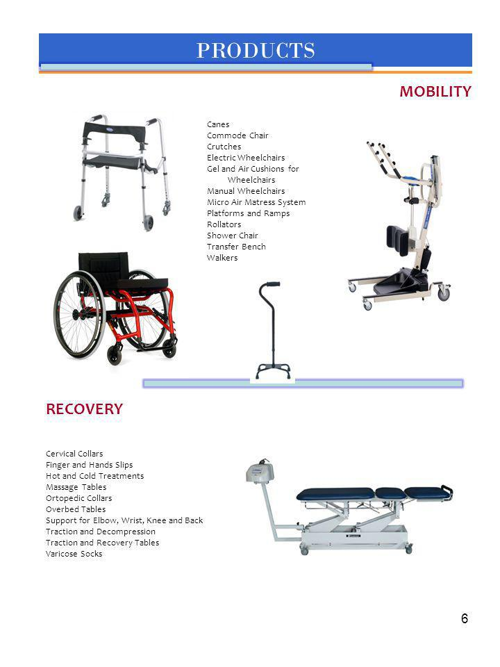 PRODUCTS MOBILITY RECOVERY 6 6 Canes Commode Chair Crutches