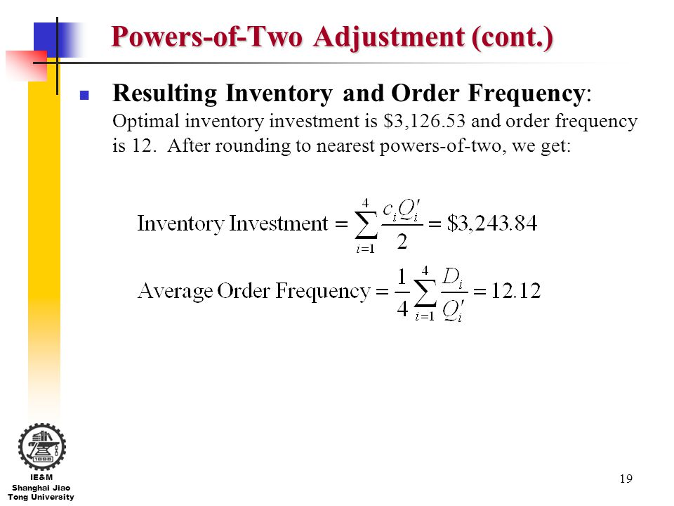Powers-of-Two Adjustment (cont.)