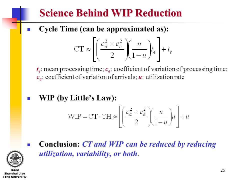 Science Behind WIP Reduction