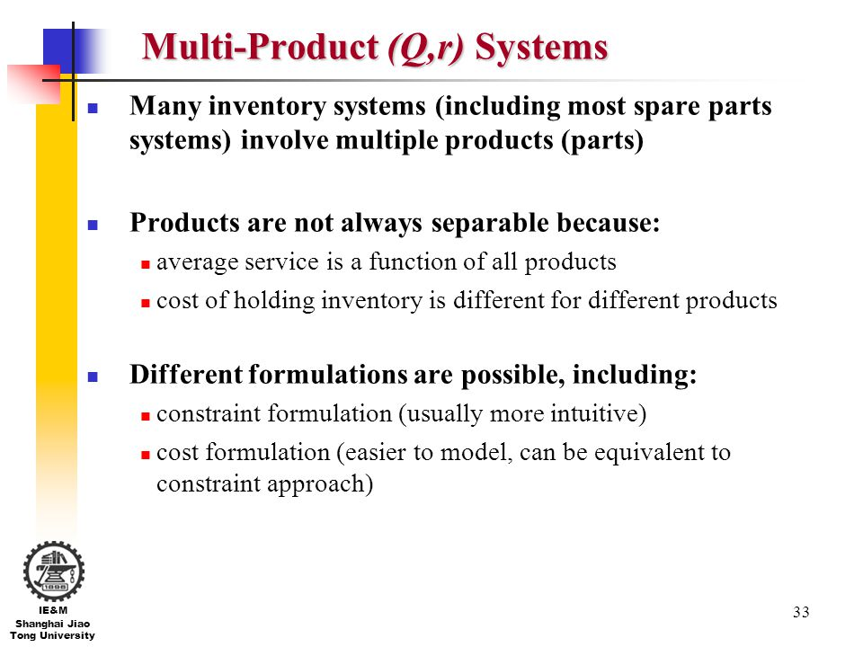 Multi-Product (Q,r) Systems