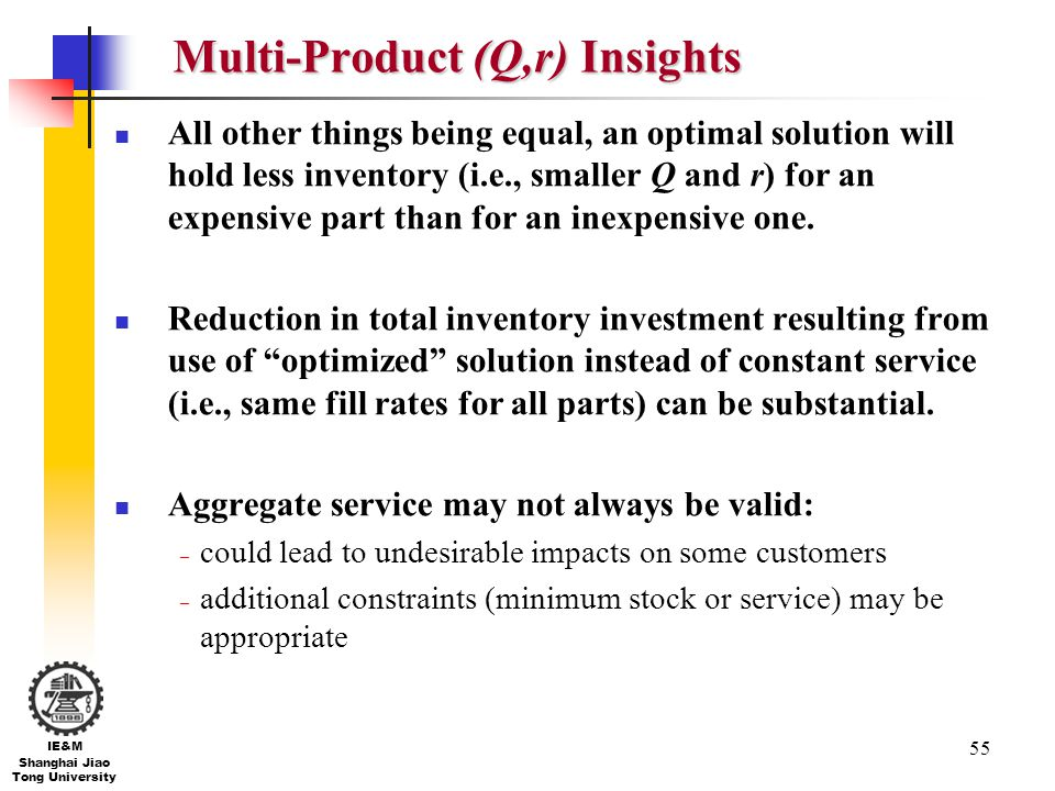 Multi-Product (Q,r) Insights