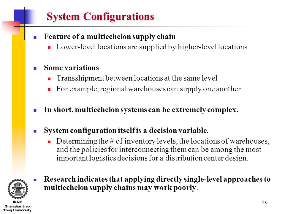 System Configurations