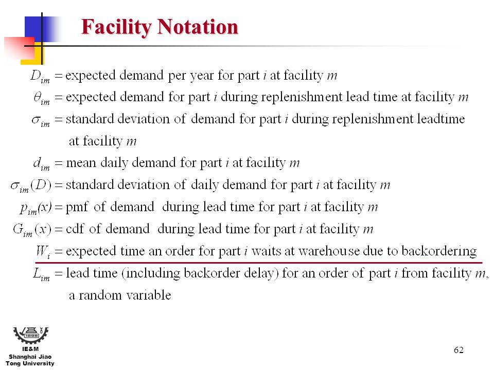 Facility Notation