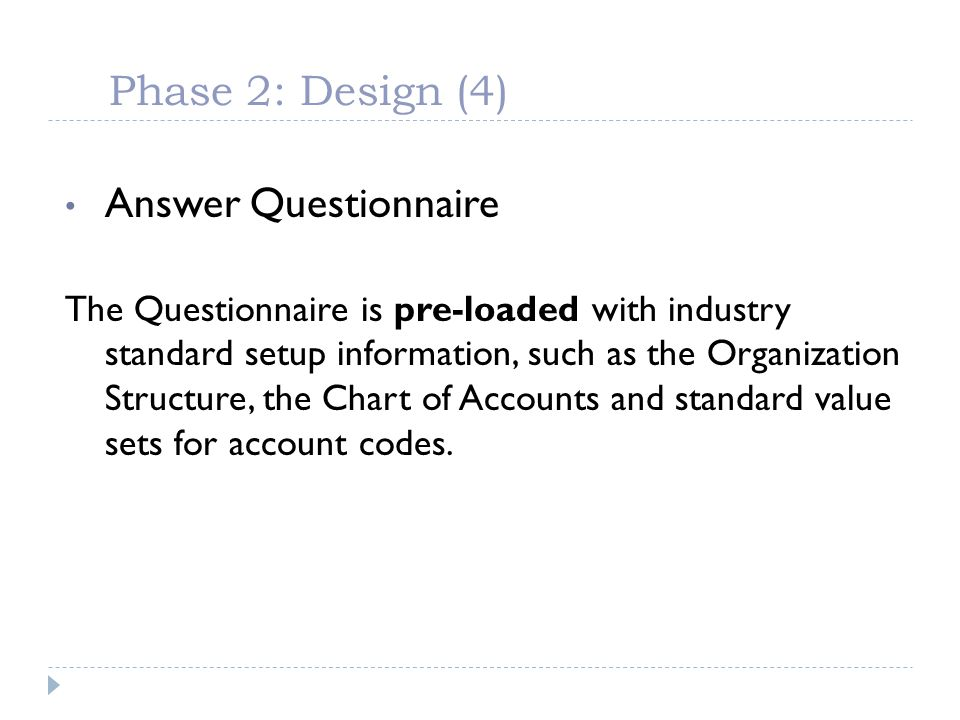 Phase 2: Design (4) Answer Questionnaire