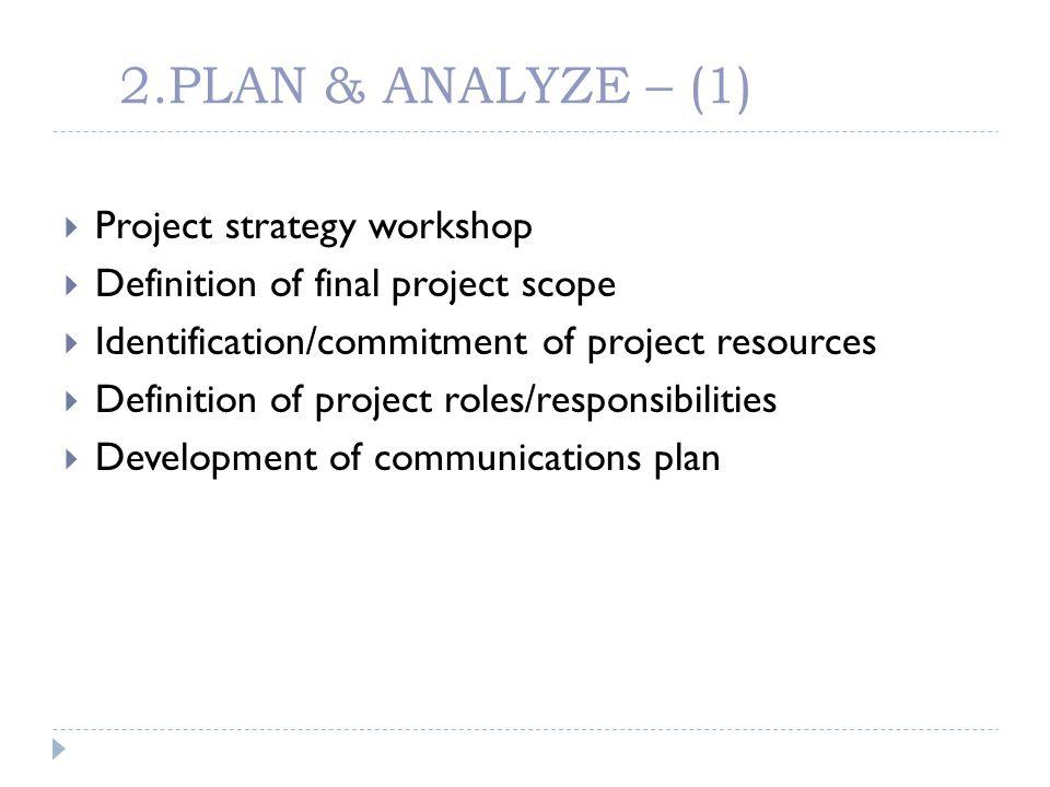 2.PLAN & ANALYZE – (1) Project strategy workshop
