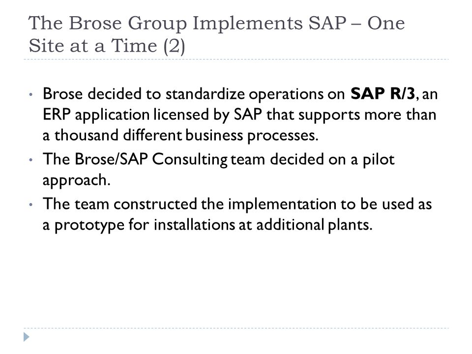 The Brose Group Implements SAP – One Site at a Time (2)