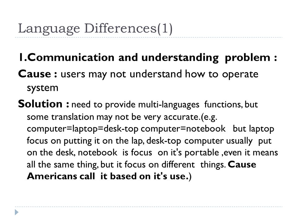 Language Differences(1)