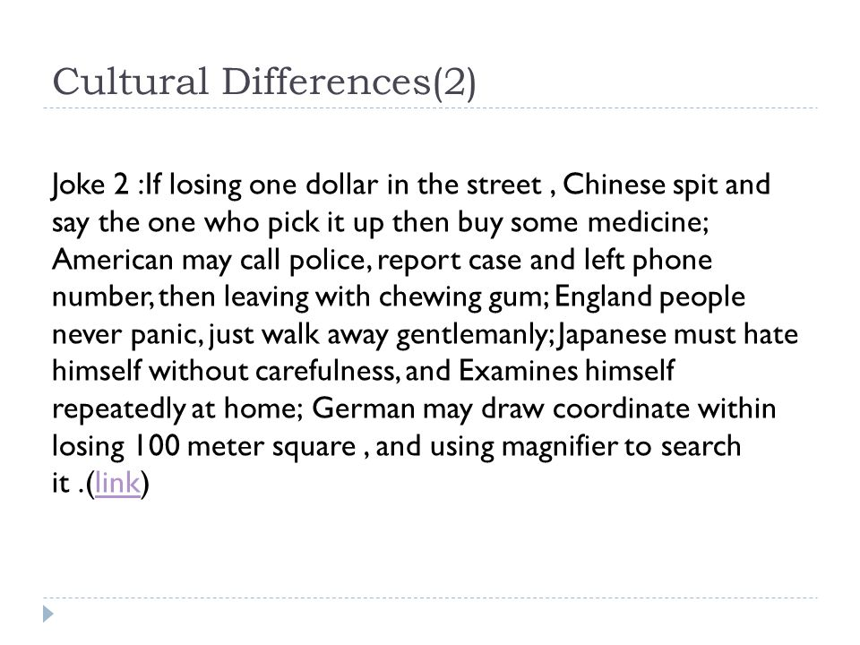 Cultural Differences(2)