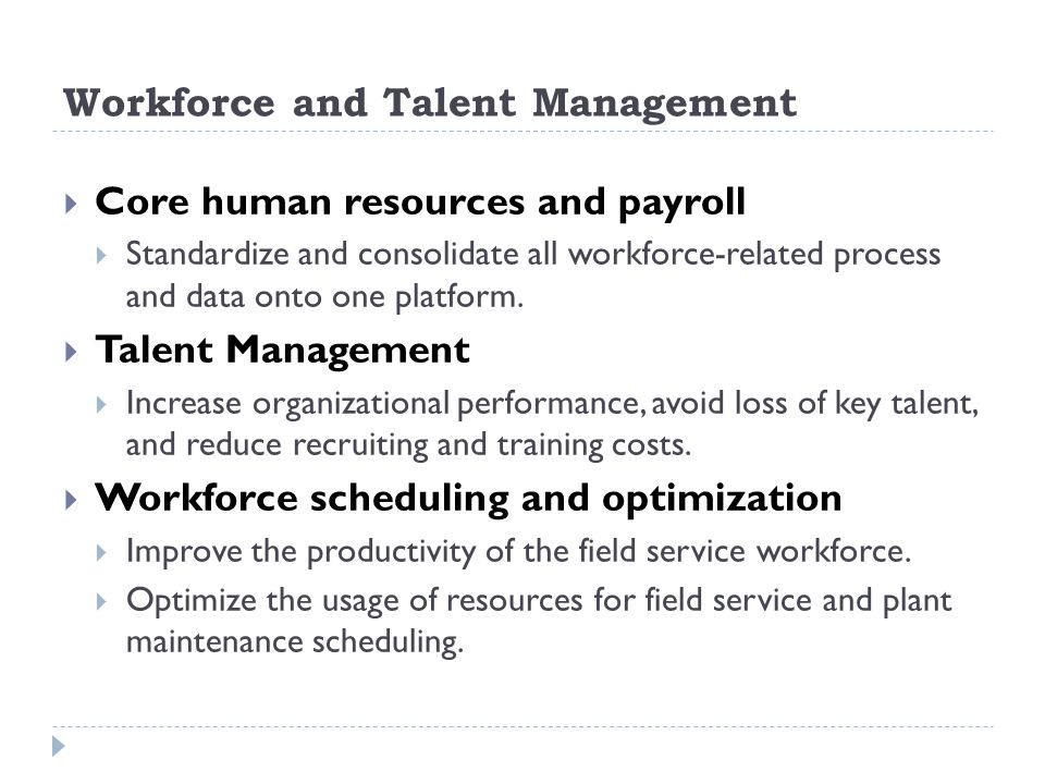 Workforce and Talent Management