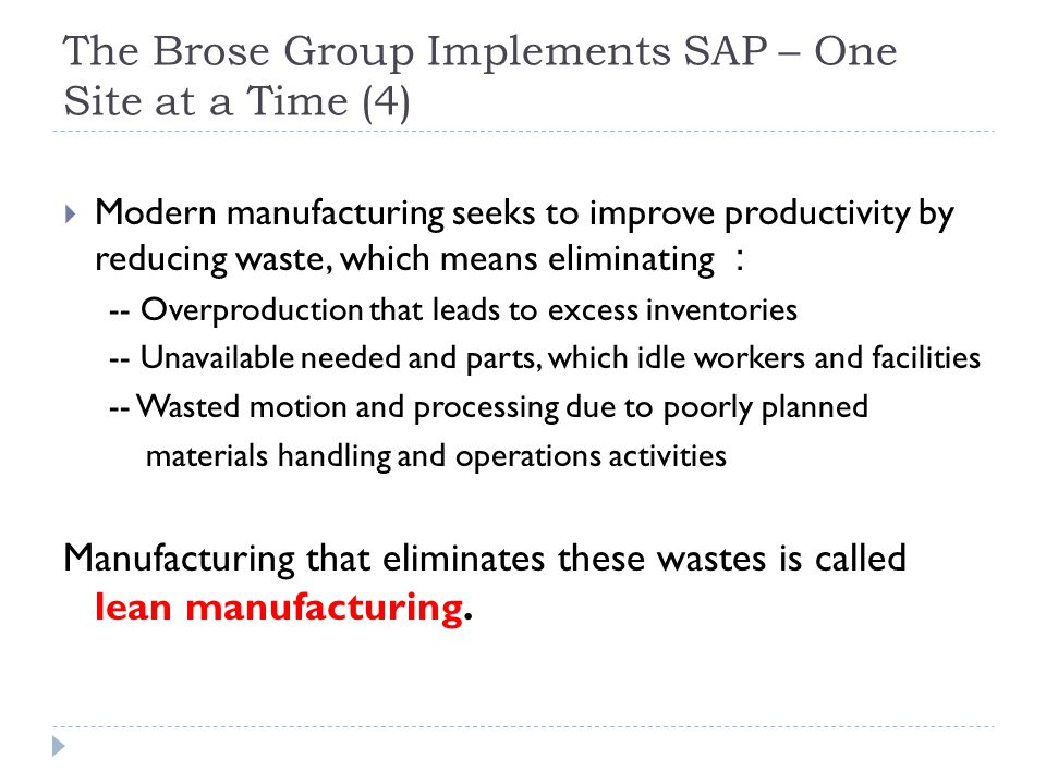 The Brose Group Implements SAP – One Site at a Time (4)