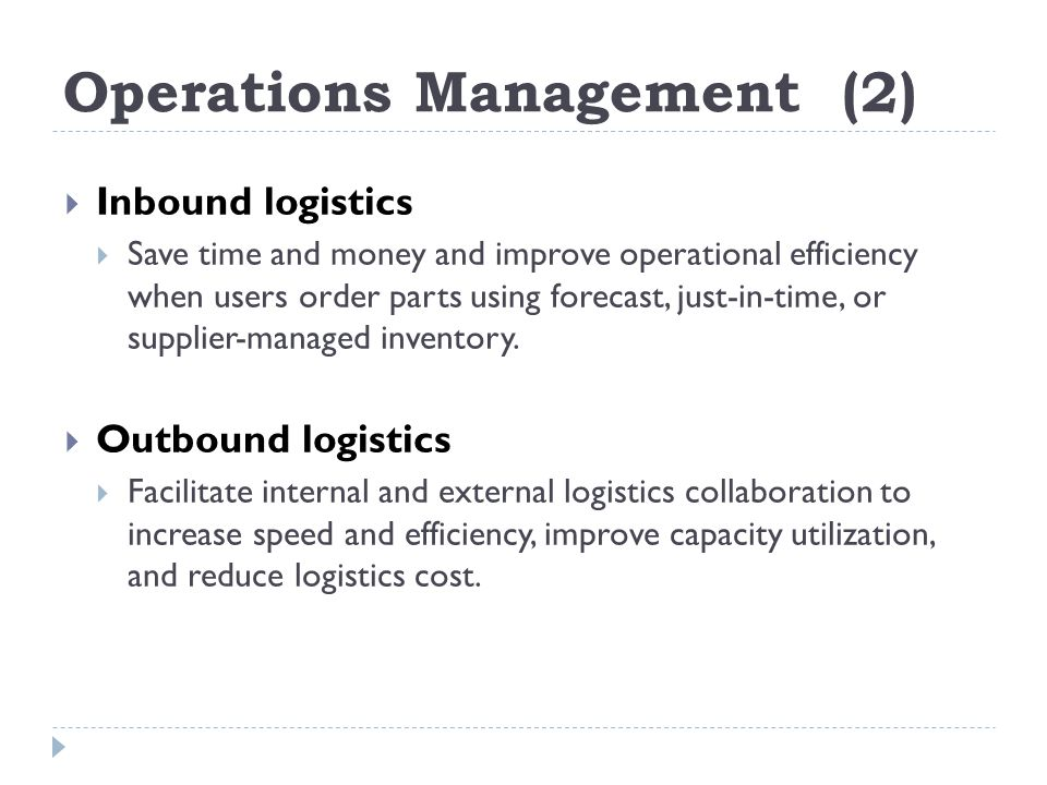 Operations Management (2)