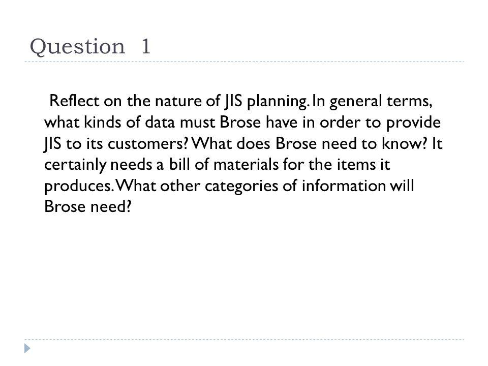 Question 1