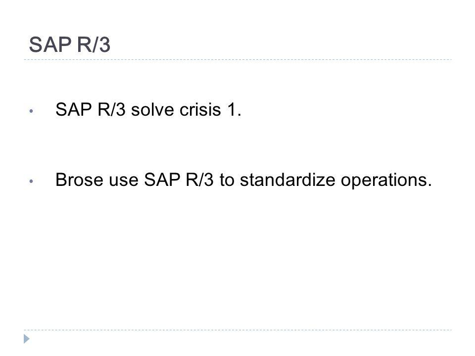 SAP R/3 SAP R/3 solve crisis 1.
