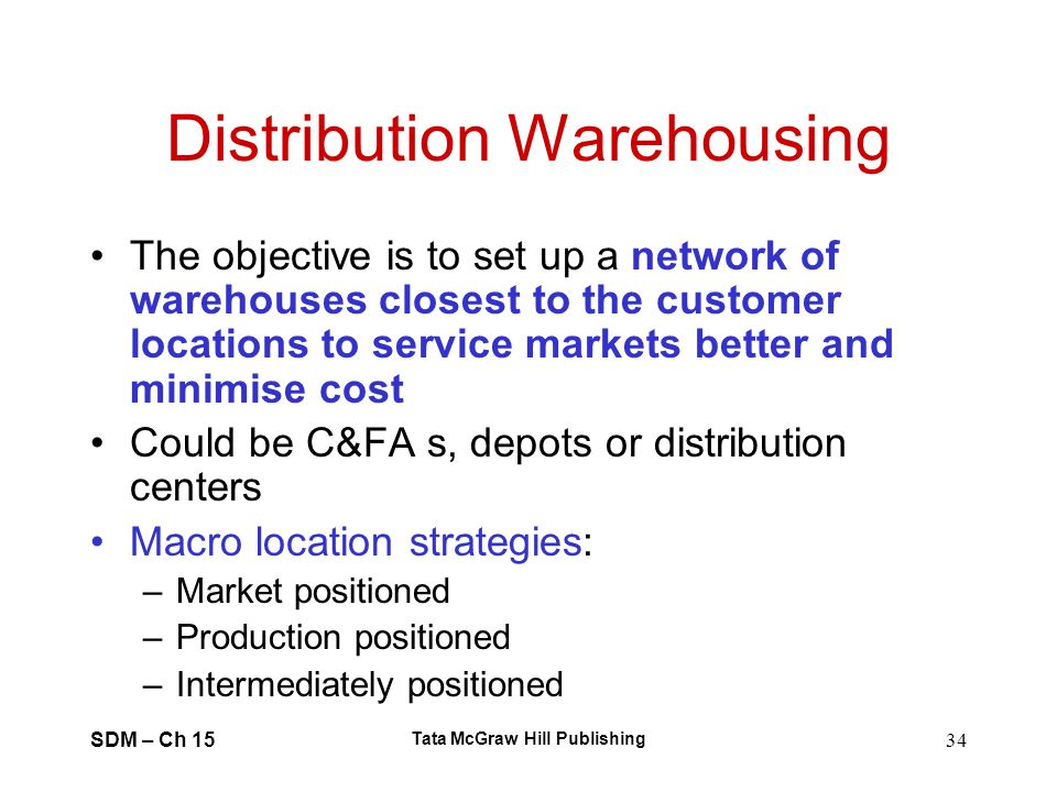 Distribution Warehousing