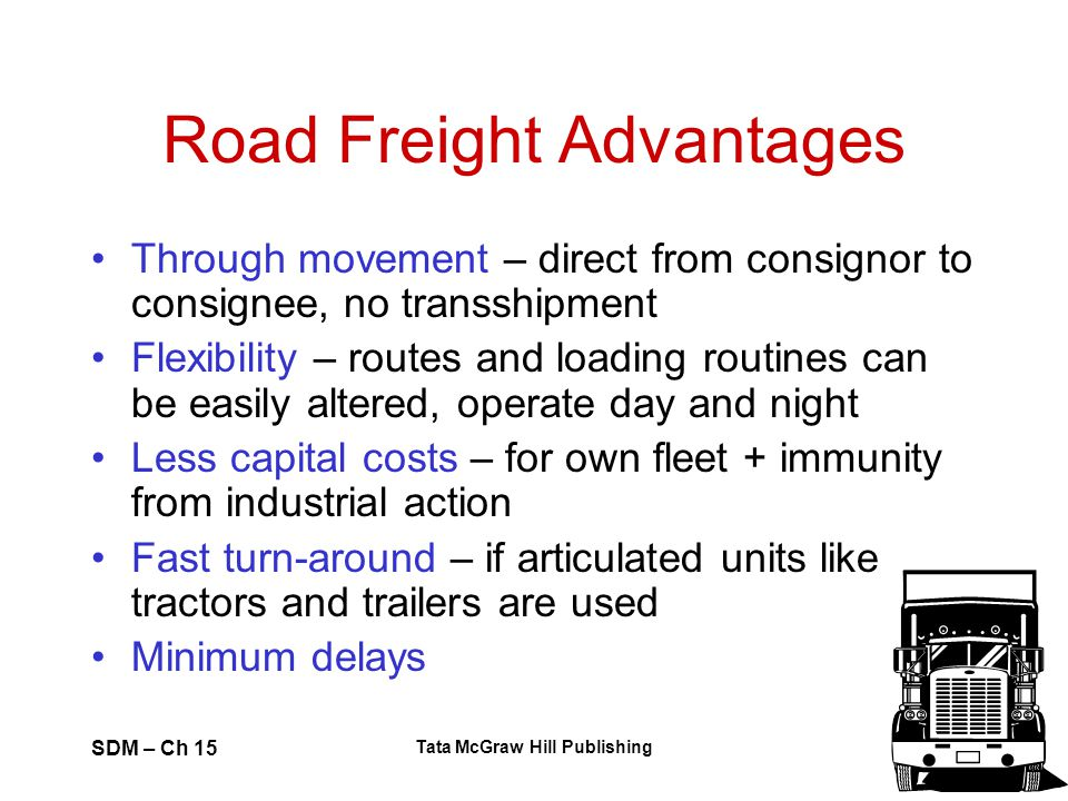 Road Freight Advantages