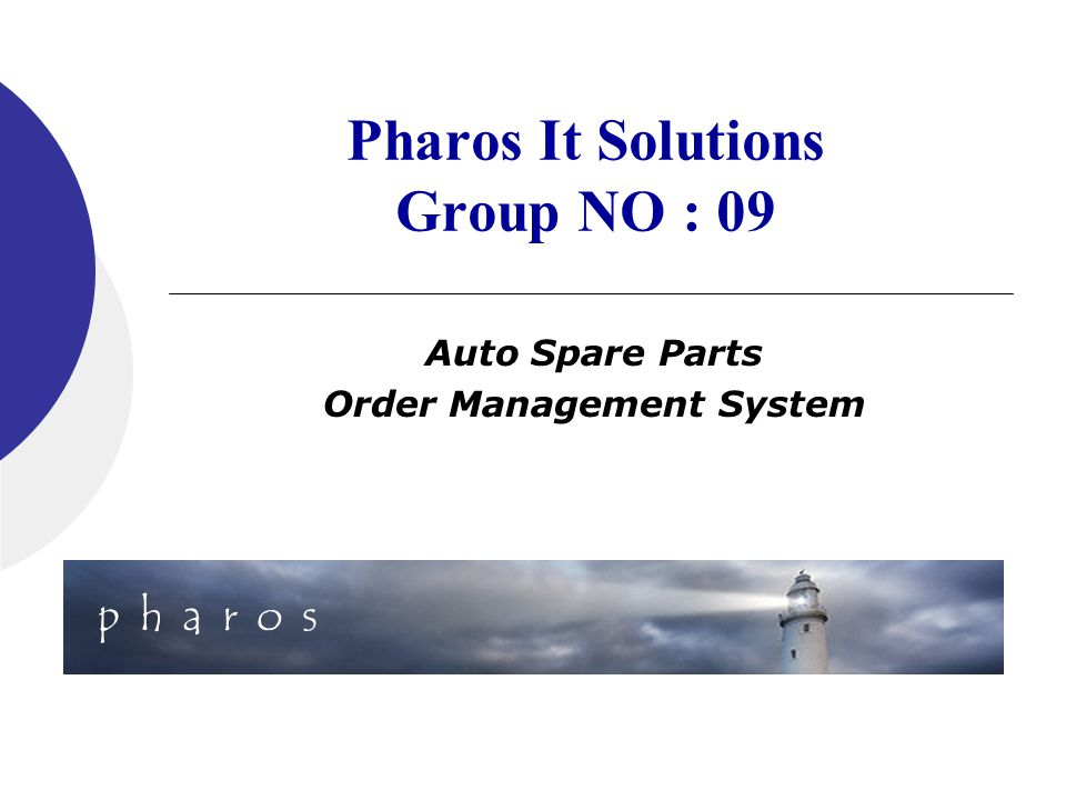 Pharos It Solutions Group NO : 09