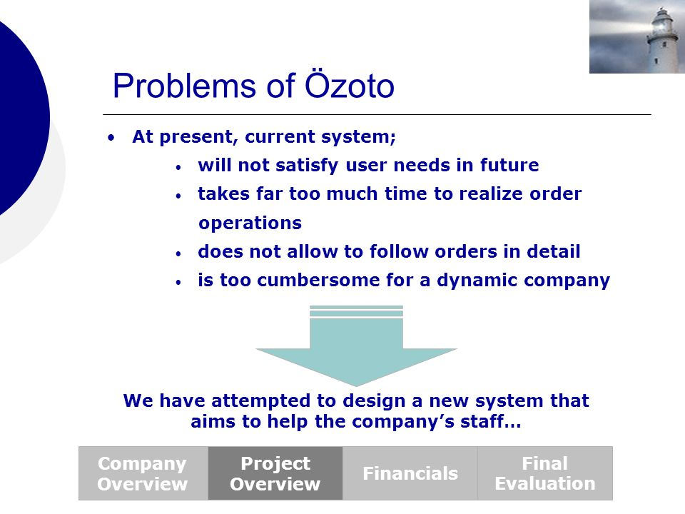 Problems of Özoto At present, current system;