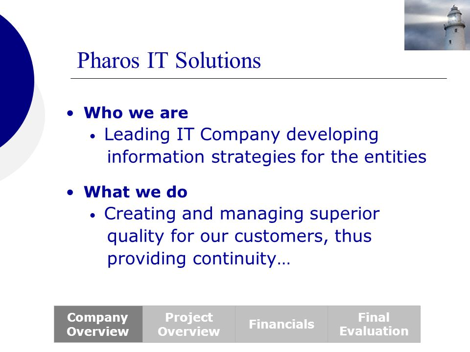 Pharos IT Solutions Leading IT Company developing