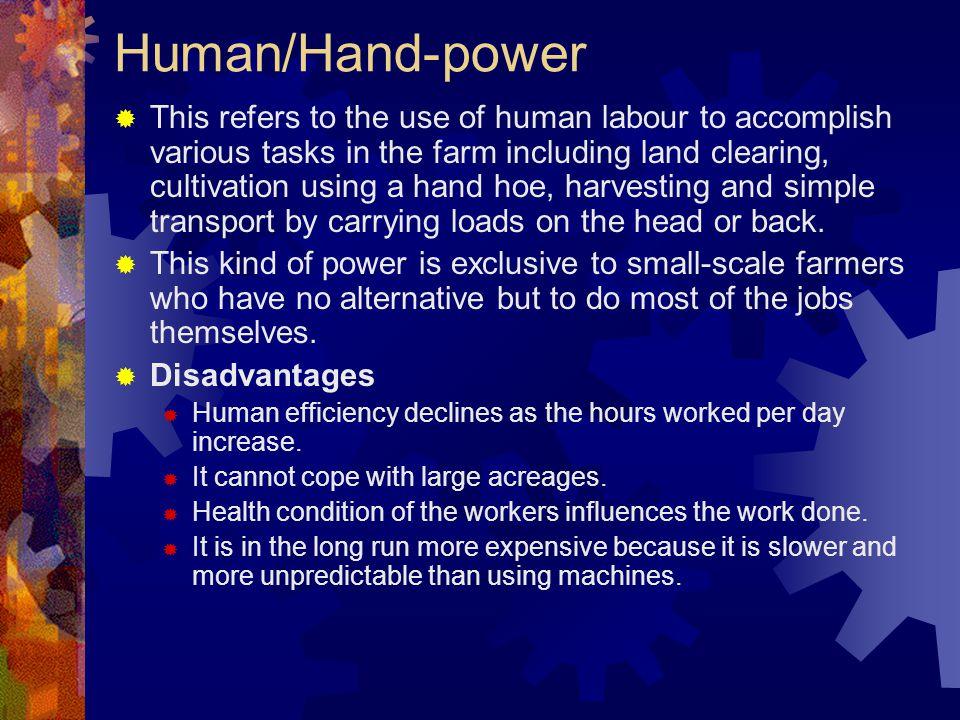 Human/Hand-power