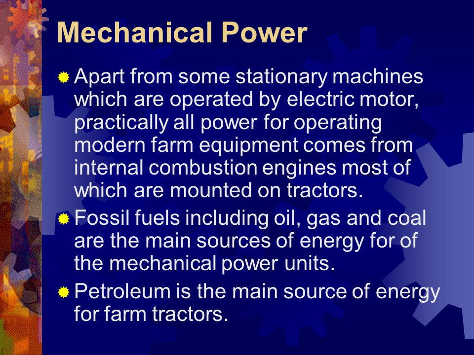Mechanical Power