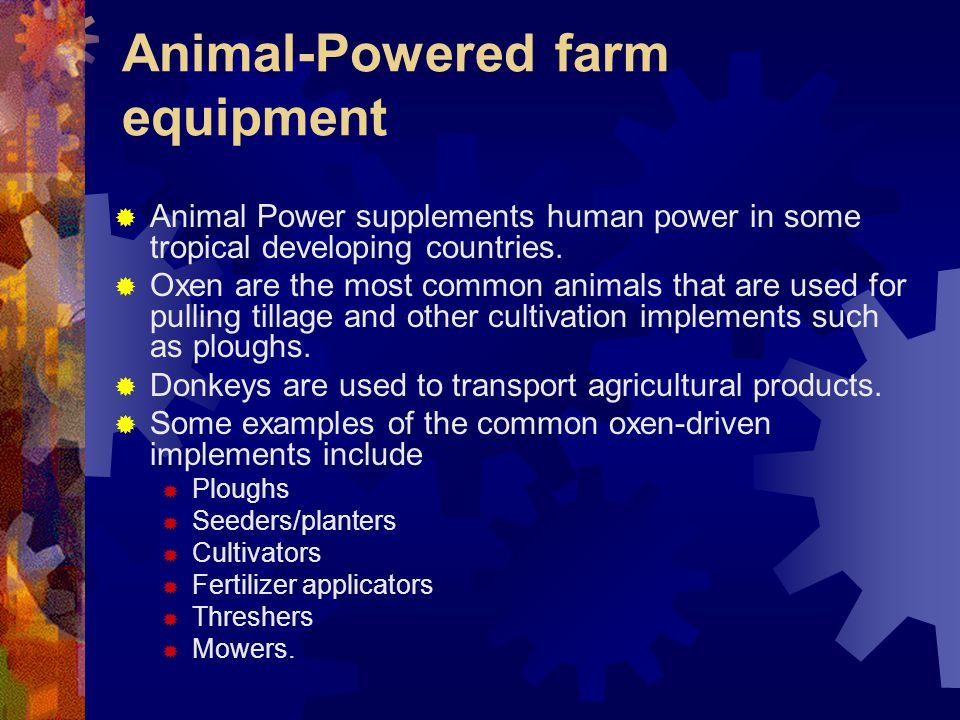 Animal-Powered farm equipment