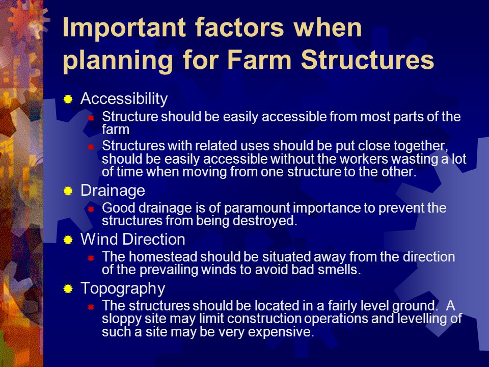 Important factors when planning for Farm Structures