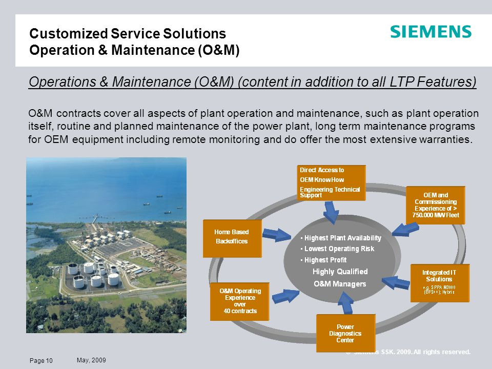 Customized Service Solutions Operation & Maintenance (O&M)
