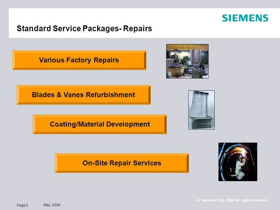 Standard Service Packages- Repairs