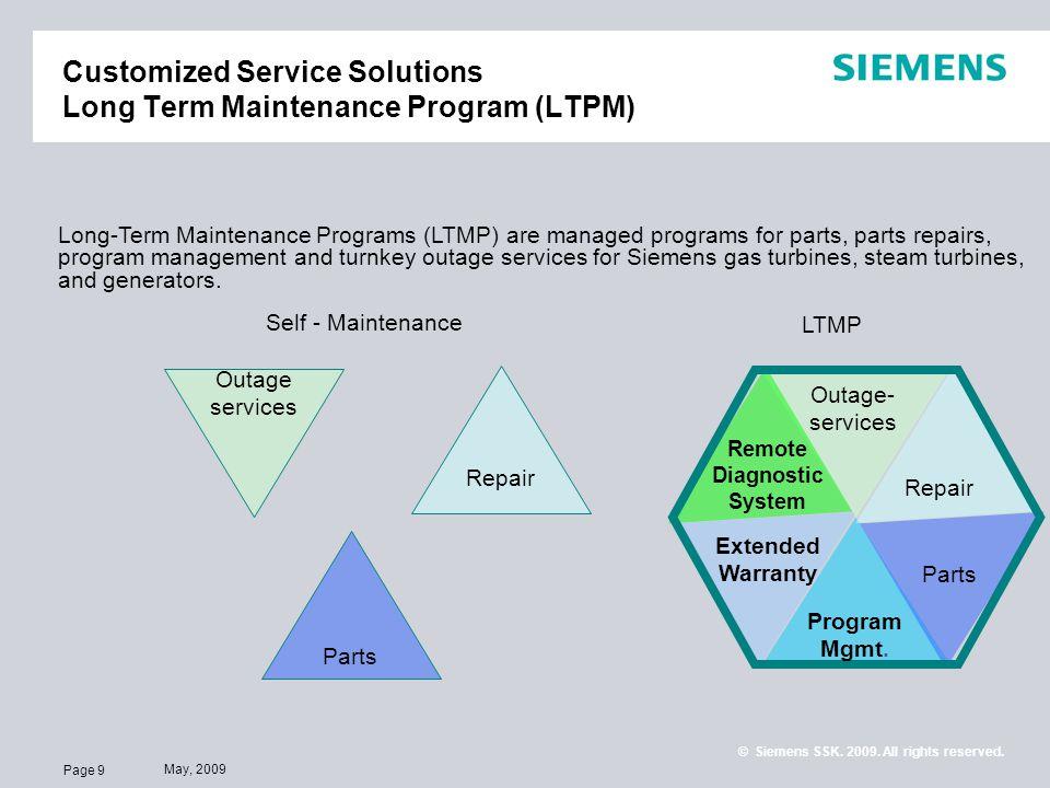 Customized Service Solutions Long Term Maintenance Program (LTPM)