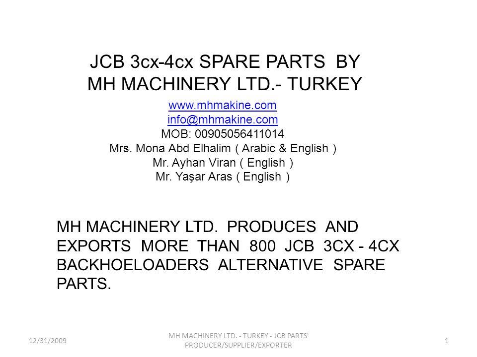 JCB 3cx-4cx SPARE PARTS BY MH MACHINERY LTD.- TURKEY