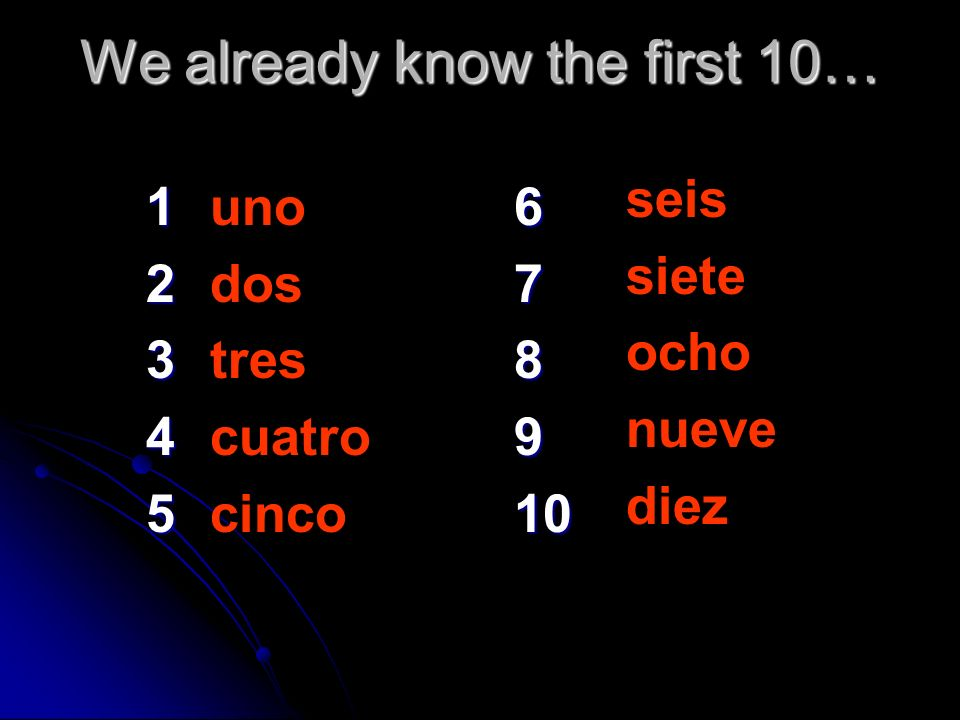 We already know the first 10…
