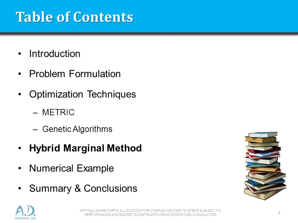 Table of Contents Introduction Problem Formulation