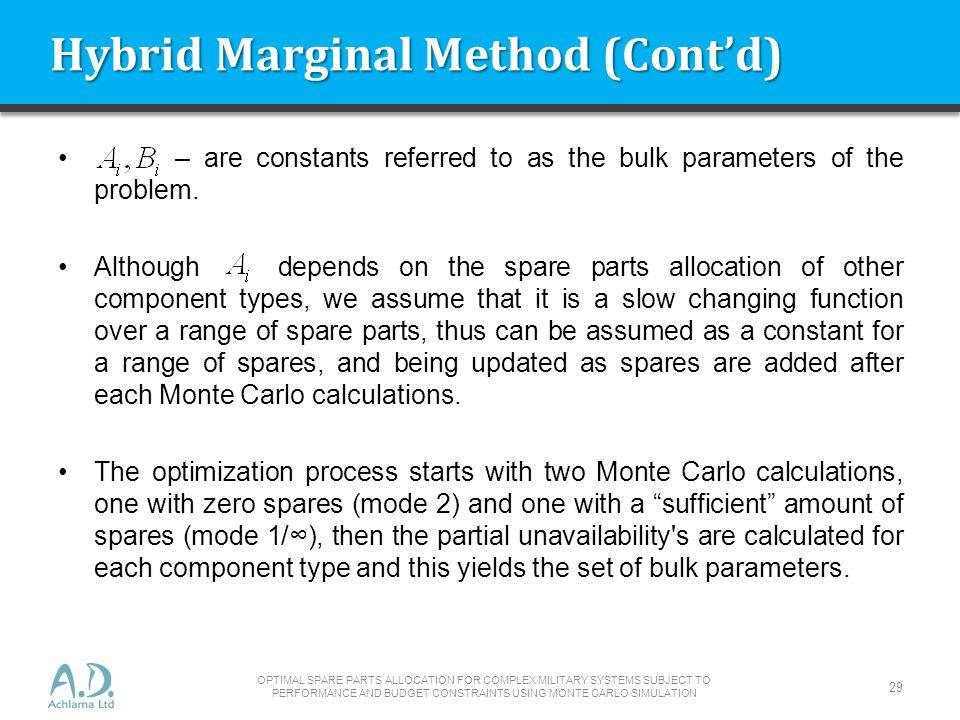 Hybrid Marginal Method (Cont'd)