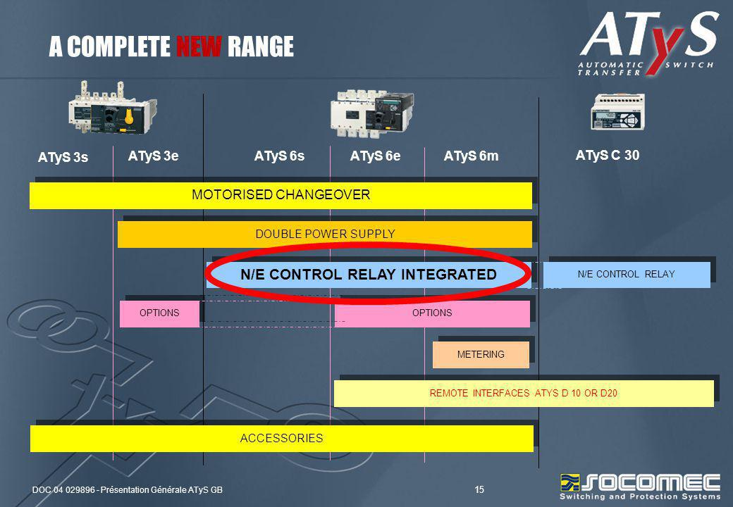 N/E CONTROL RELAY INTEGRATED