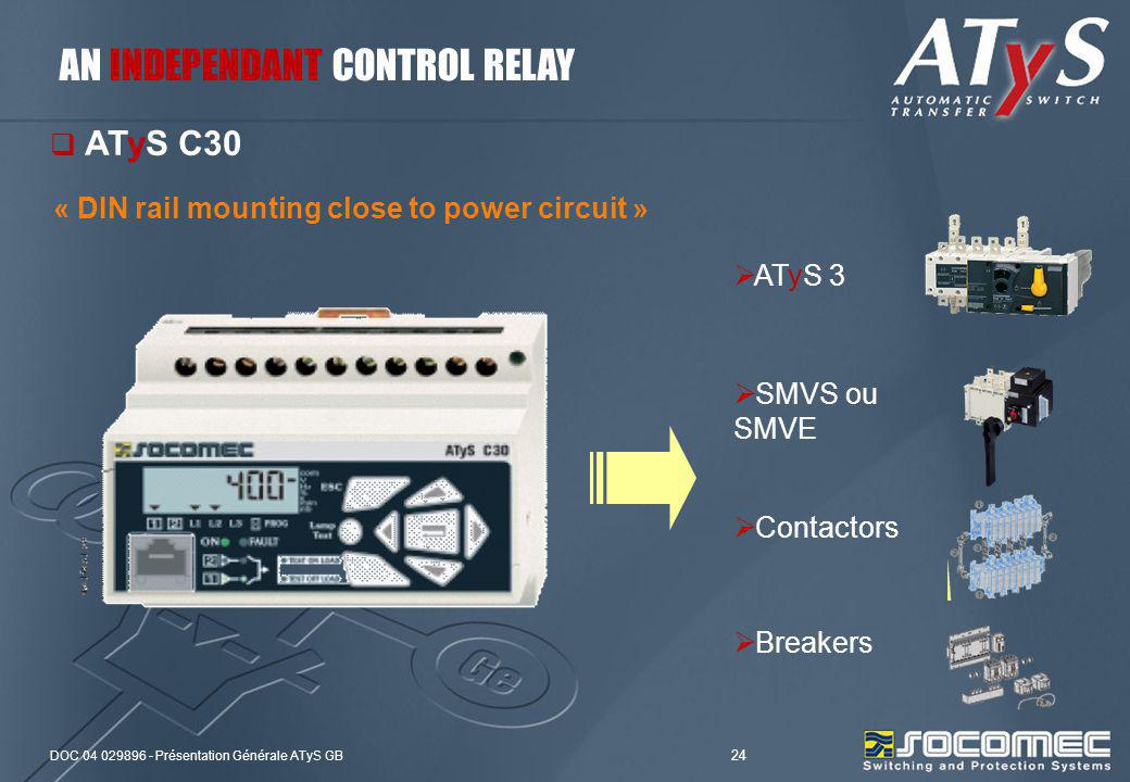 AN INDEPENDANT CONTROL RELAY