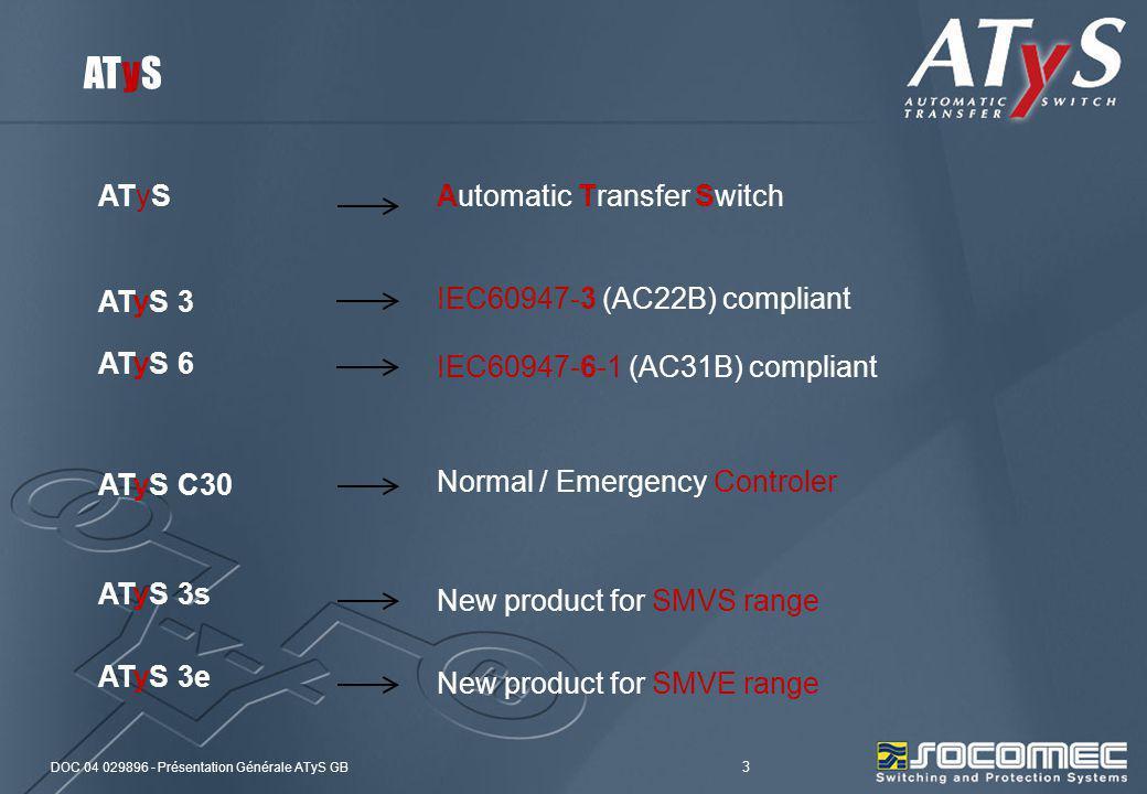 ATyS ATyS Automatic Transfer Switch ATyS 3