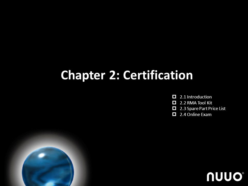 Chapter 2: Certification