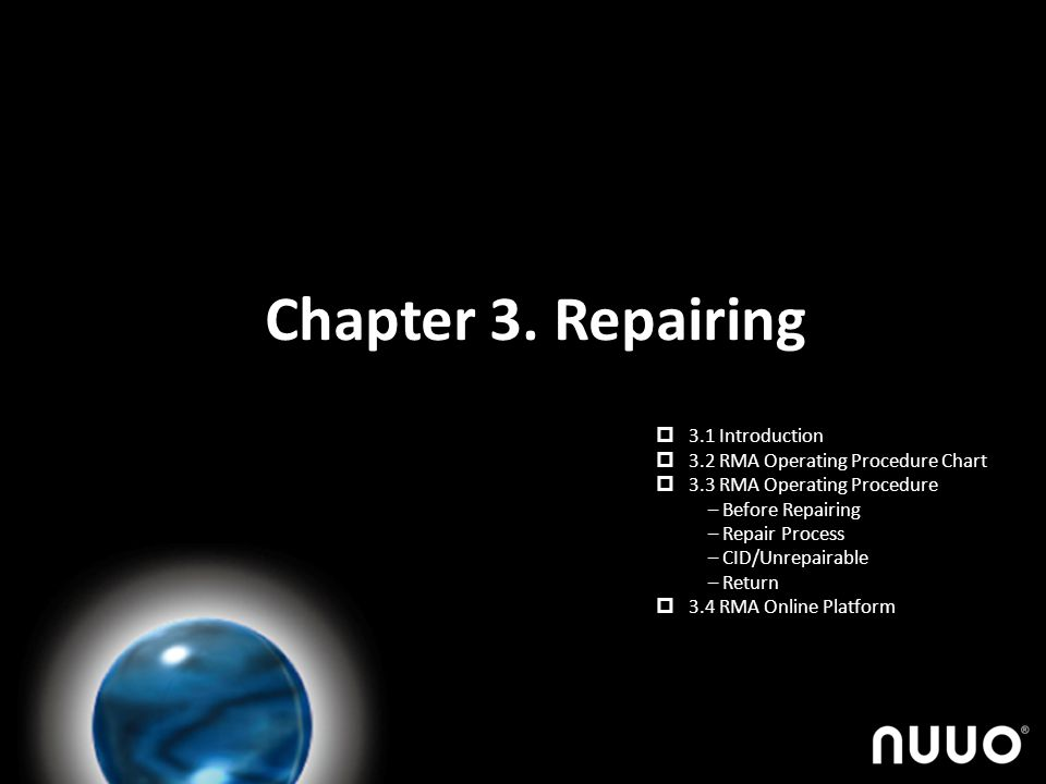 Chapter 3. Repairing 3.1 Introduction