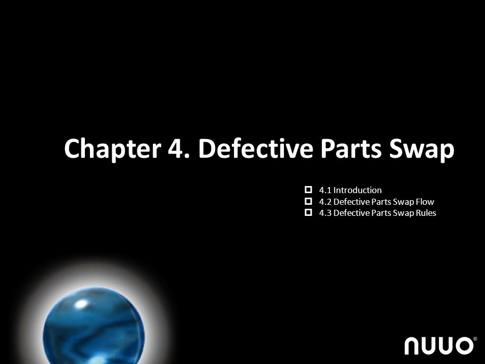 Chapter 4. Defective Parts Swap