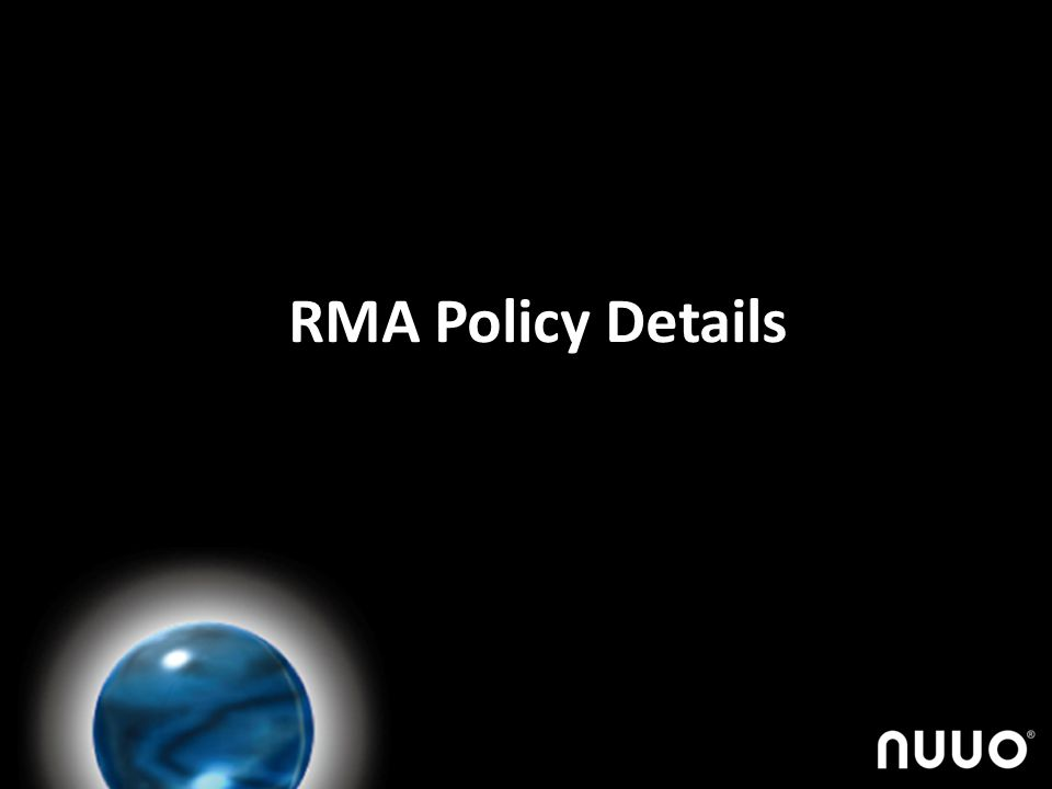 RMA Policy Details