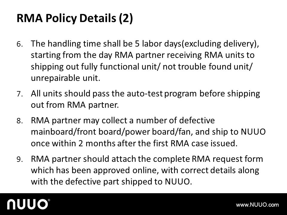 RMA Policy Details (2)