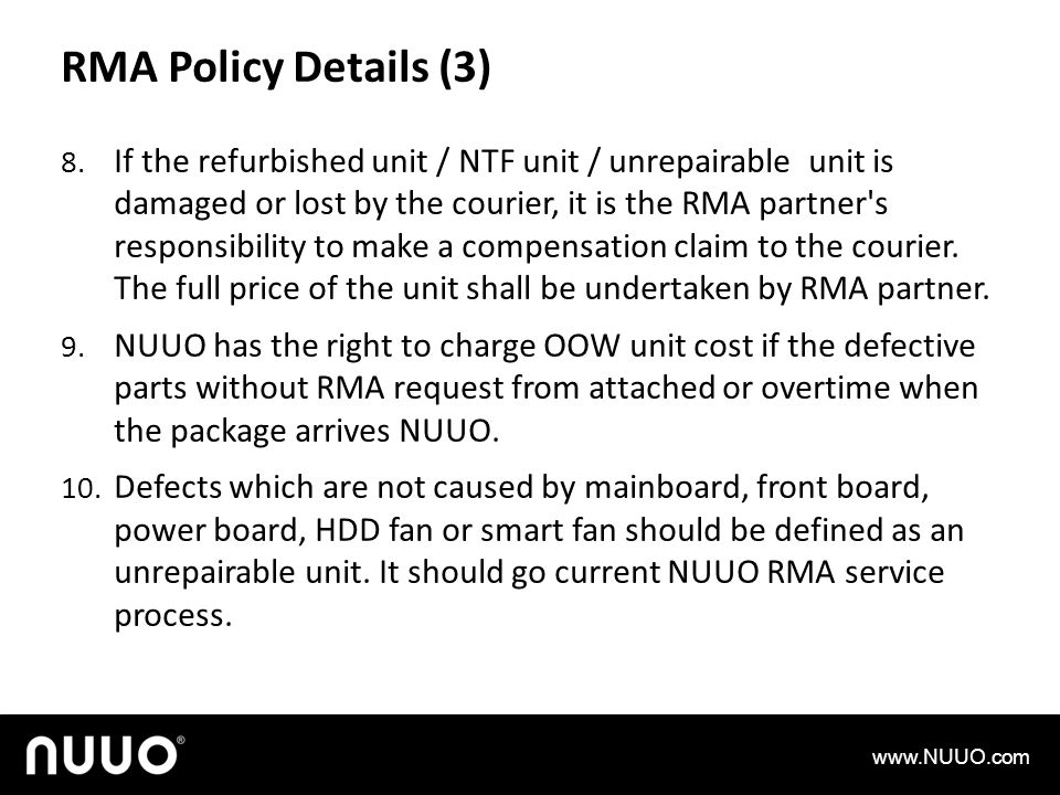 RMA Policy Details (3)