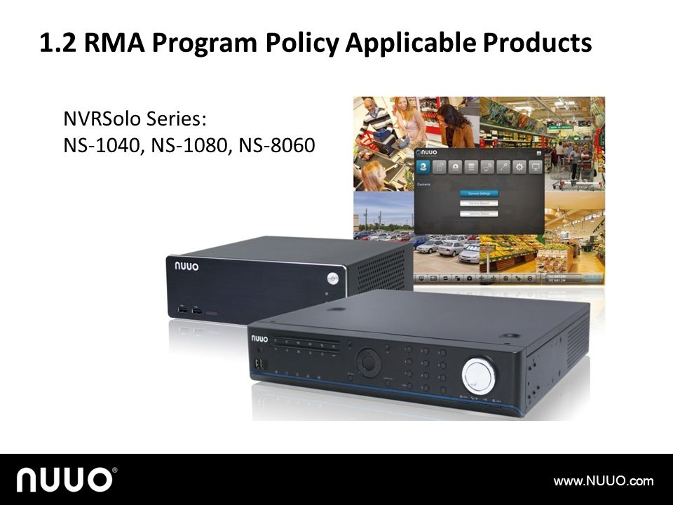 1.2 RMA Program Policy Applicable Products
